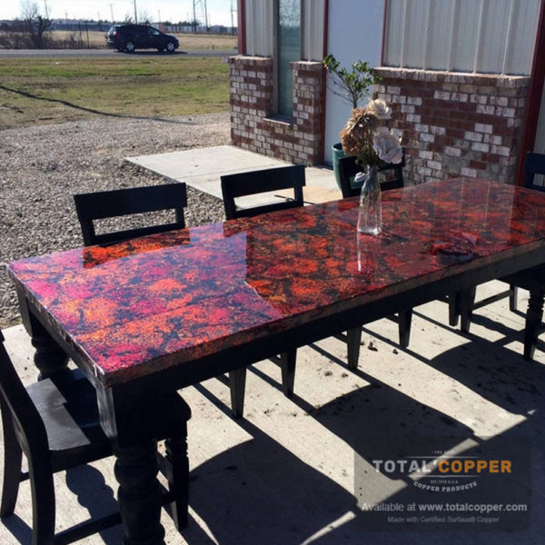 Wild Fire Copper Table