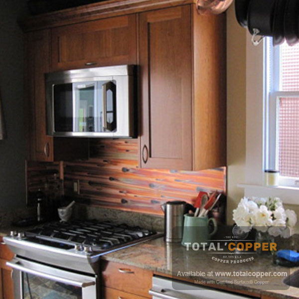 Stellar Copper Kitchen Backsplash | Copper Backsplash