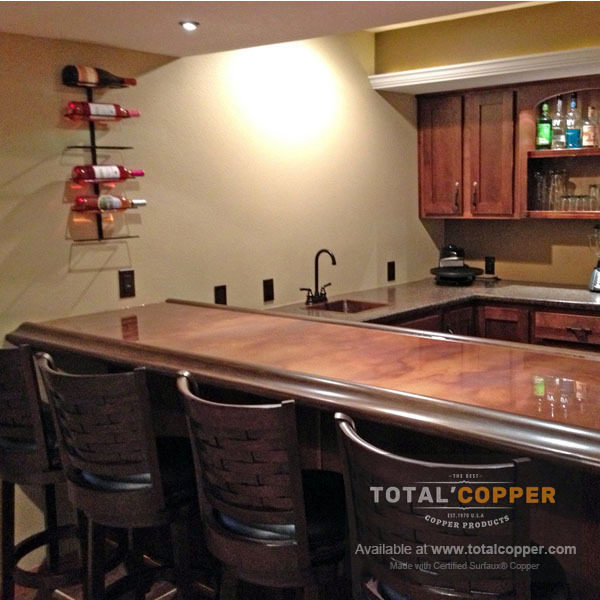 Antique Copper Kitchen Counter Top | Copper Counter