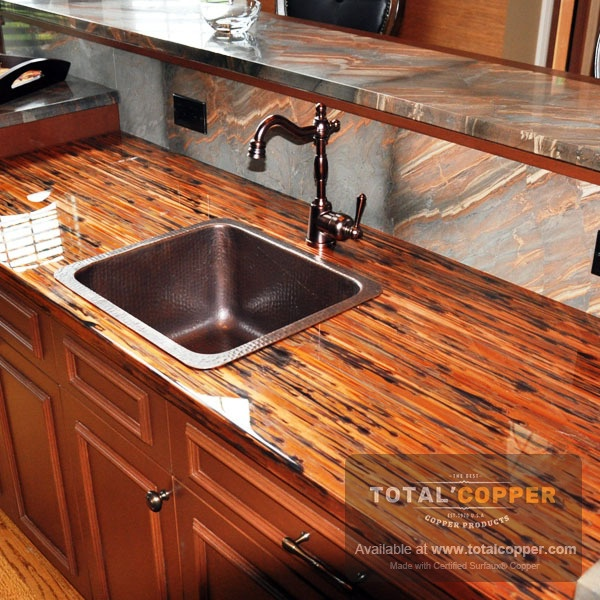 Counter Top Made with Enchantment Copper (24 Guage)