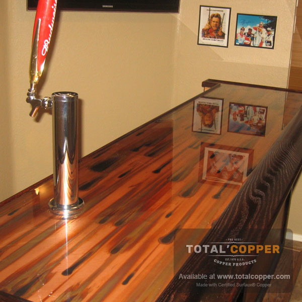 Stellar Copper Kitchen Counter | Copper Counter
