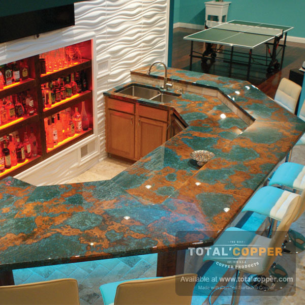 Verde Copper Bar Top | Copper Bar