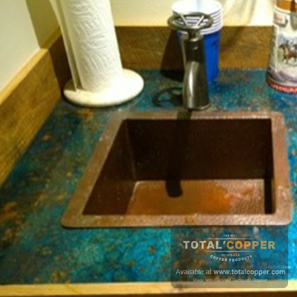 Mottled Copper Kitchen Counter Top | Copper Counter