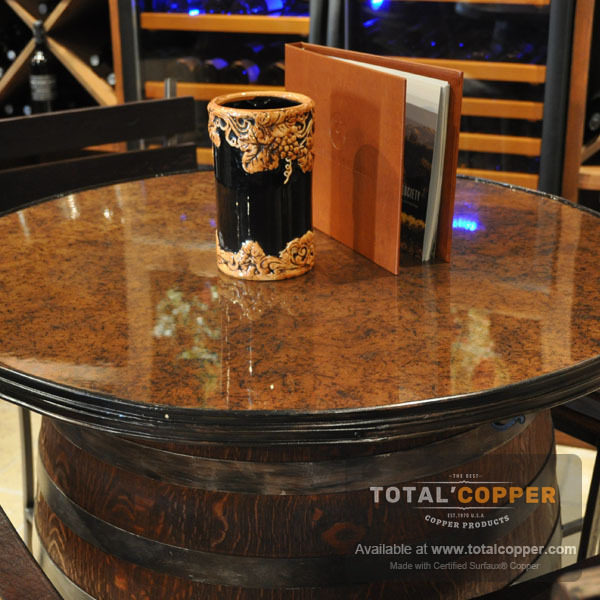 Light Distressed Copper Table