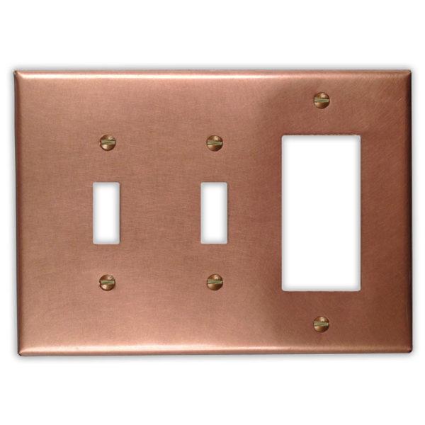 Raw Copper – 2 Toggle 1 Rocker/GFI