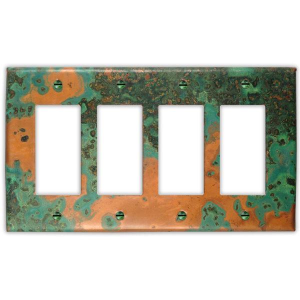 Verde Copper Finish Patina 4 rocker