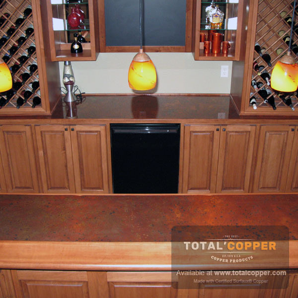 Sunburst Copper Kitchen Counter Top | Copper Counter
