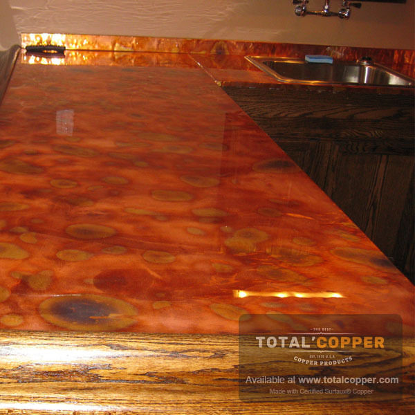 Flamed Copper Counter Top | Copper Counter