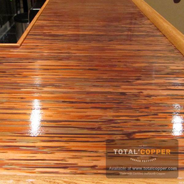 Enchantment Horizontal Copper Bar Top | Copper Bar