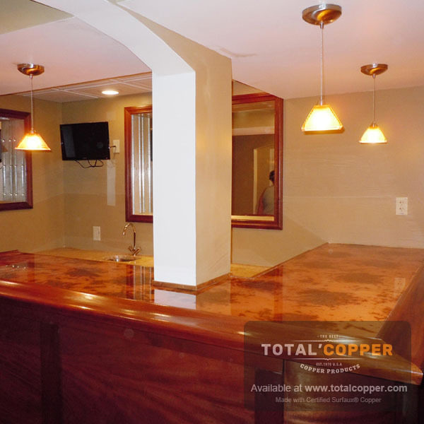 Bamboo Copper Bar Top | Copper Bar