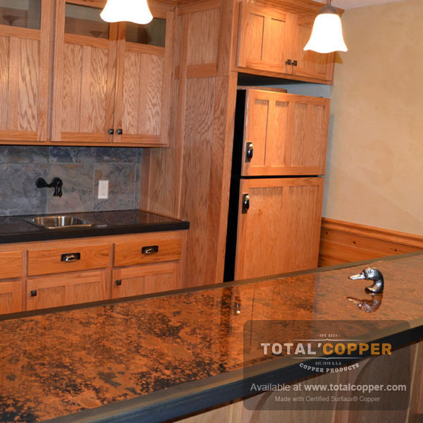 Mottled Copper Counter Top | Copper Counter