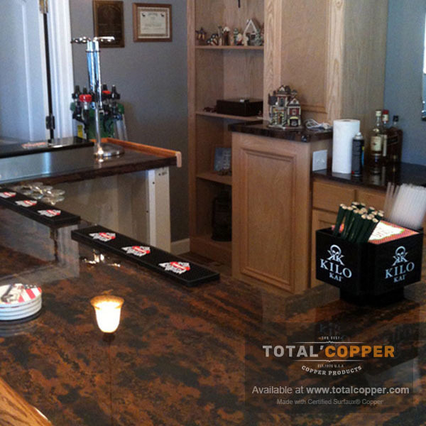 Zebra Copper Bar Top | Copper Bar