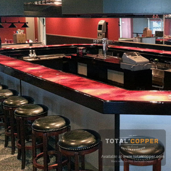 Wine Red Copper Bar | Copper Bar