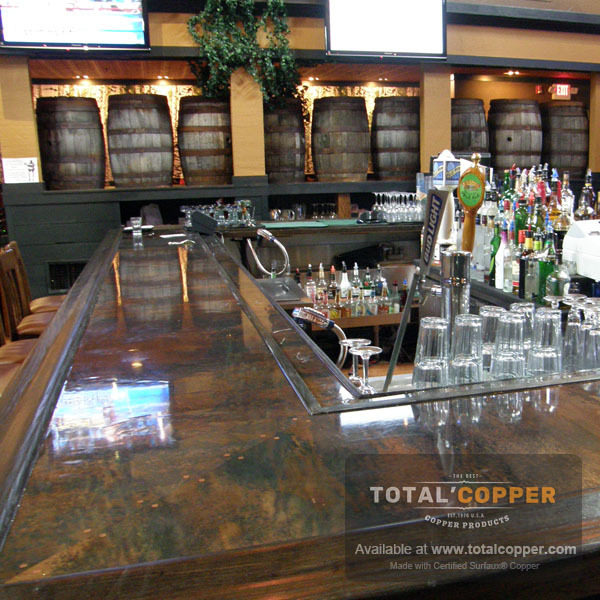 Mottled Copper Bar Top | Copper Bar