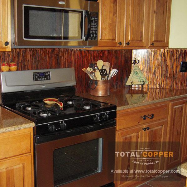 Enchantment Vertical Copper Kitchen Backsplash | Copper Backsplash