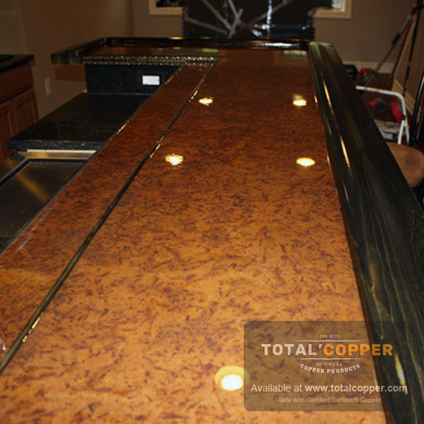 Light Distressed Copper Bar | Copper Bar