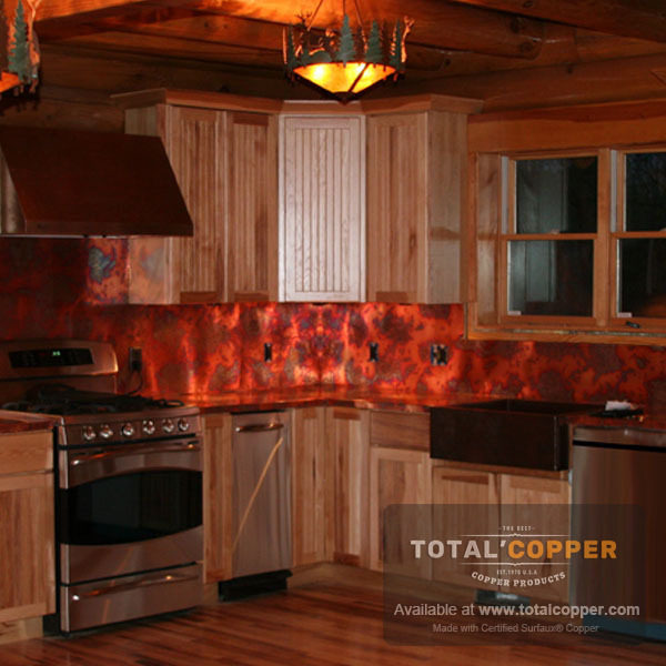 Bamboo Copper Kitchen Backsplash | Copper Backsplash