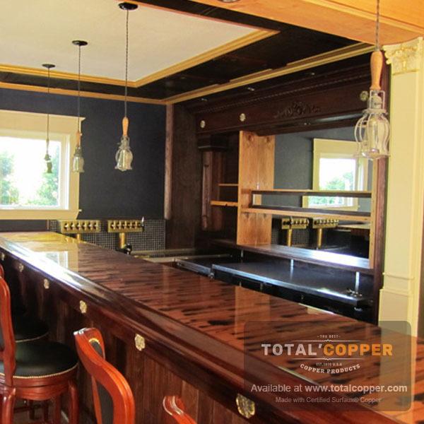Stellar Copper Bar Top | Copper Bar