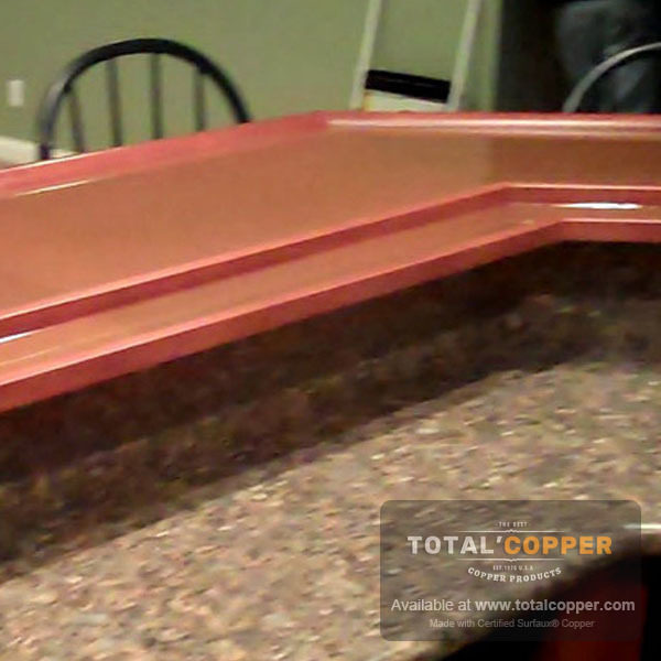 Raw Copper Kitchen Counter Top | Copper Counter
