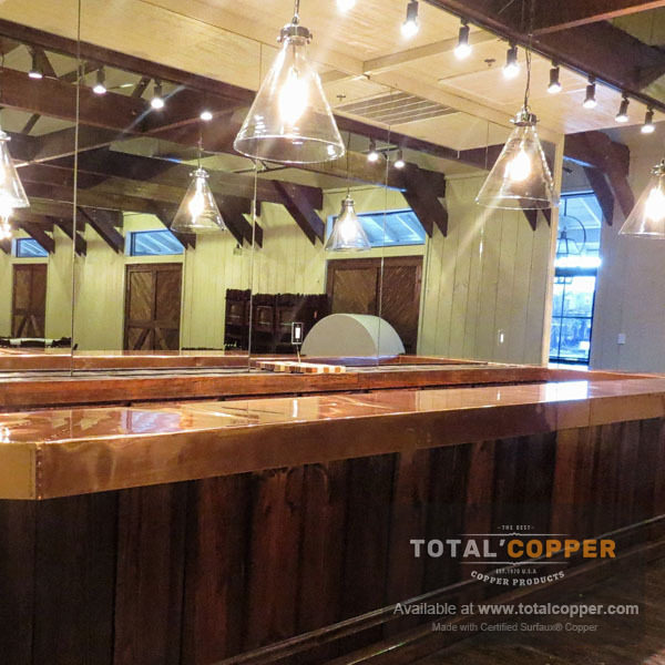 Raw Copper Bar Top | Copper Bar