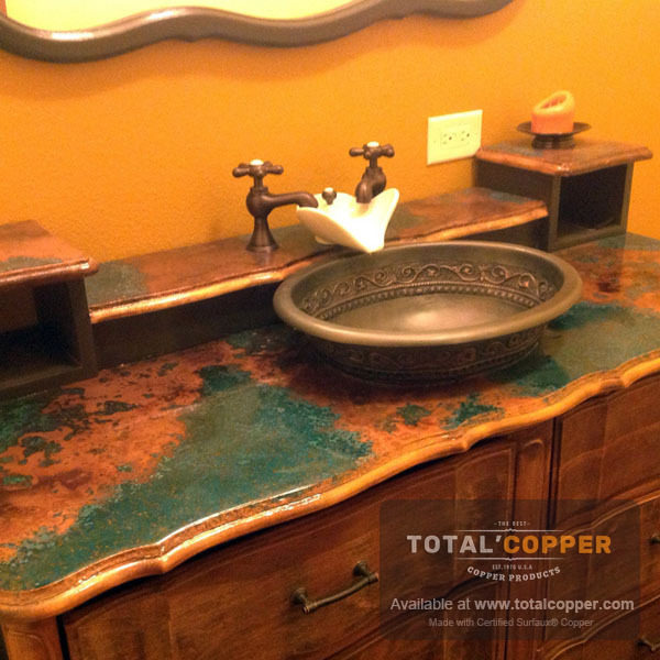 Verde Copper Vanity Counter Top | Copper Counter