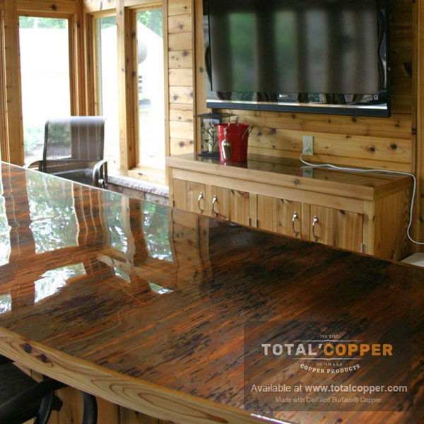 Enchantment Vertical Copper Kitchen Counter Top | Copper Counter Top