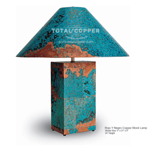 Azul Copper Block Lamp
