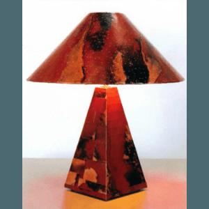 Pyramid - Copper Lamp-Rojo-y-Negro