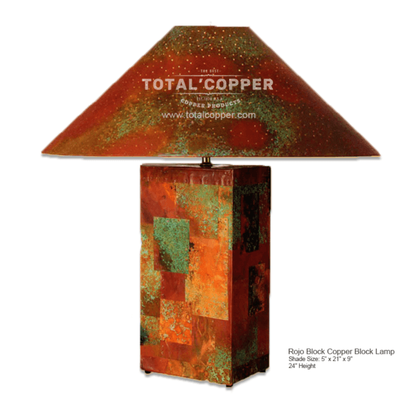 Rojo Copper Block Lamp
