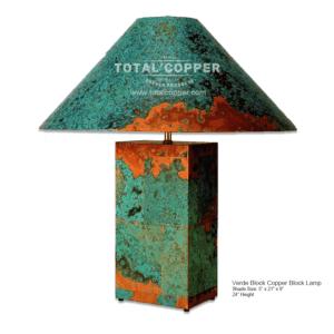 Verde Copper Block Lamp